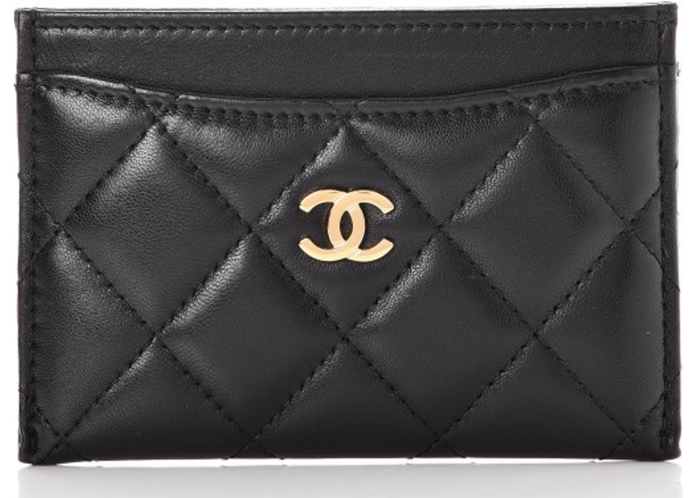 d927d15b5a5 Chanel Card Holder Quilted Diamond Lambskin Black. Quilted Diamond Lambskin  Black