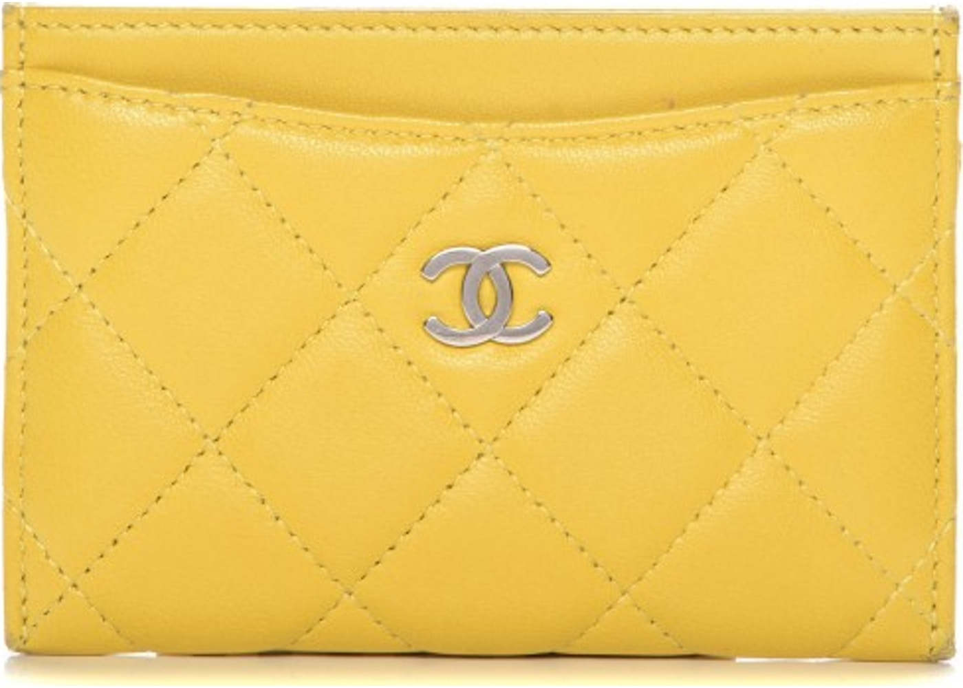 3228361adde0 Chanel CC Card Holder Quilted Diamond Yellow. Quilted Diamond Yellow