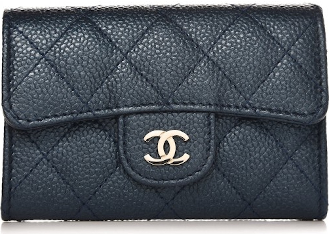 e1fd07882a36c2 Chanel Card Holder Wallet Quilted Diamond Blue. Quilted Diamond Blue