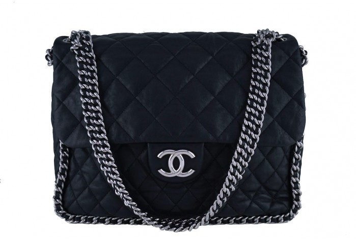 Chanel Chain Around Flap Quilted Maxi Black