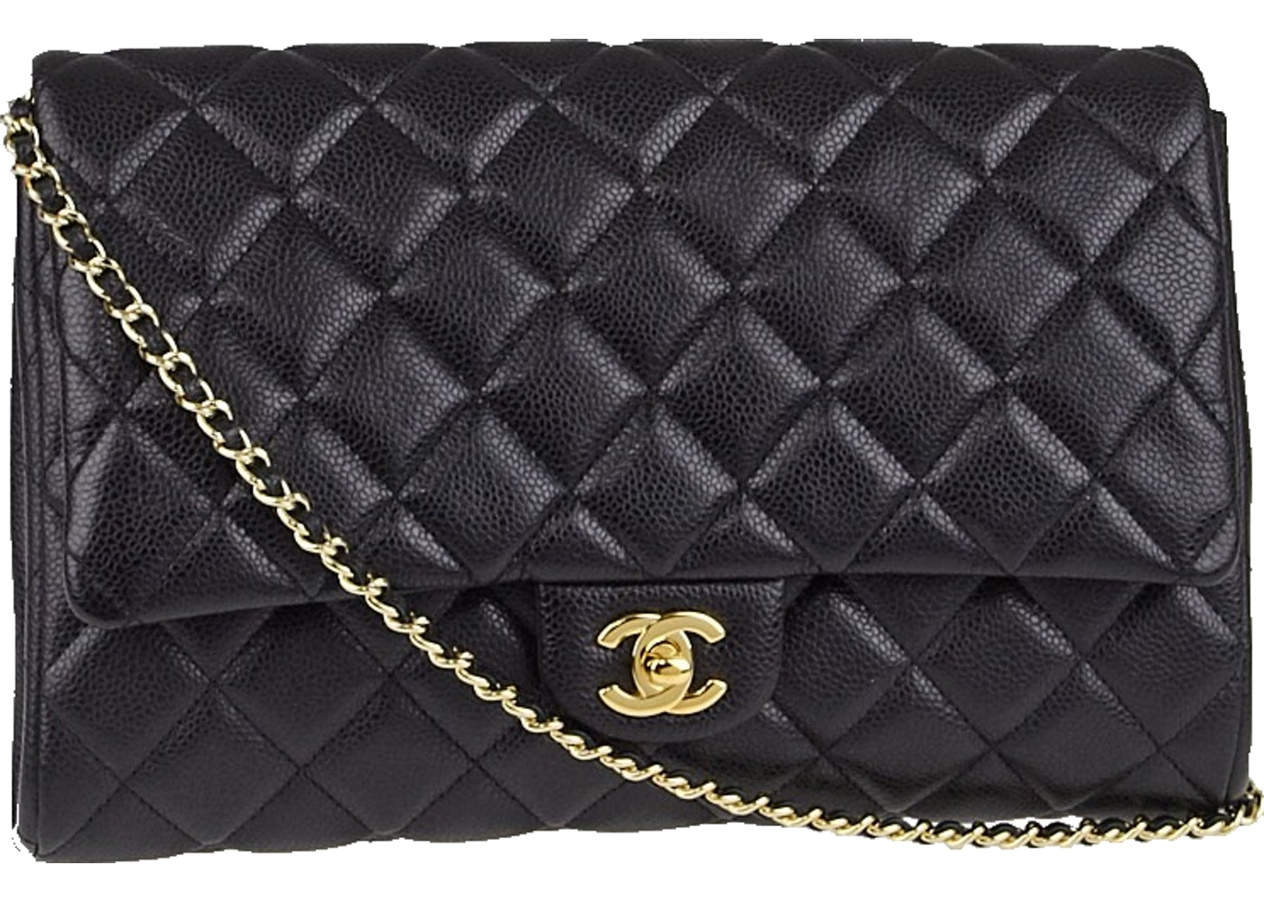 18988728e9b963 Sell. or Ask. View All Bids. Chanel Chain Clutch Classic Single Flap  Quilted Black