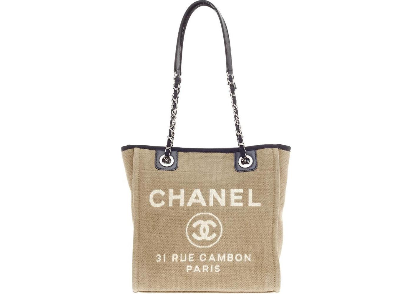 deb3da9912cb Chanel Deauville Chain Tote Small Sandy/Black. Small Sandy/Black