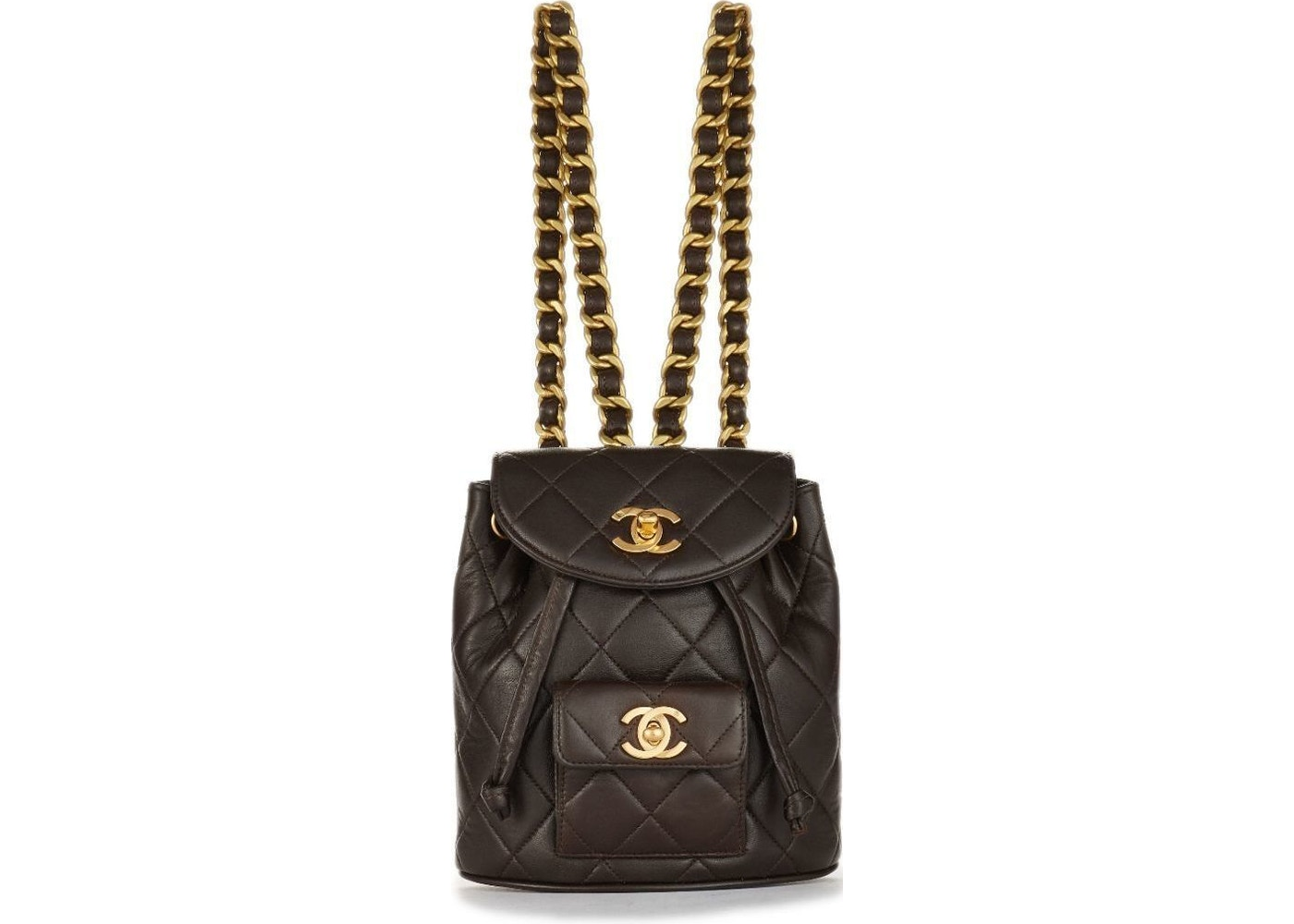 75f16f0dfd83 Chanel Backpack Classic Diamond Quilted Mini Chocolate Brown