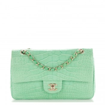 Chanel Classic Double Flap Medium Light Green