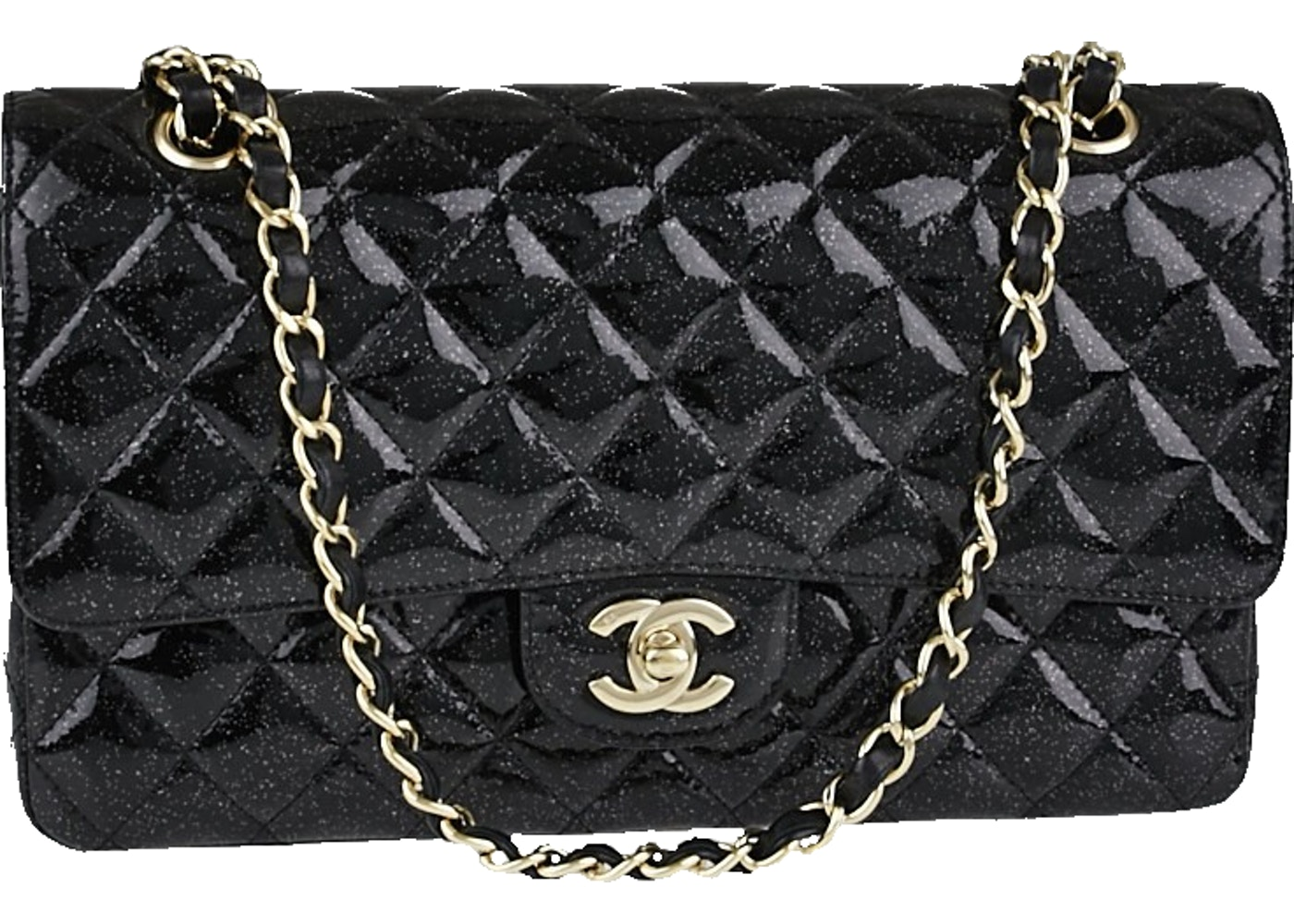 3b44ac3c014a Sell. or Ask. View All Bids. Chanel Classic Double Flap Quilted Glitter  Medium Black