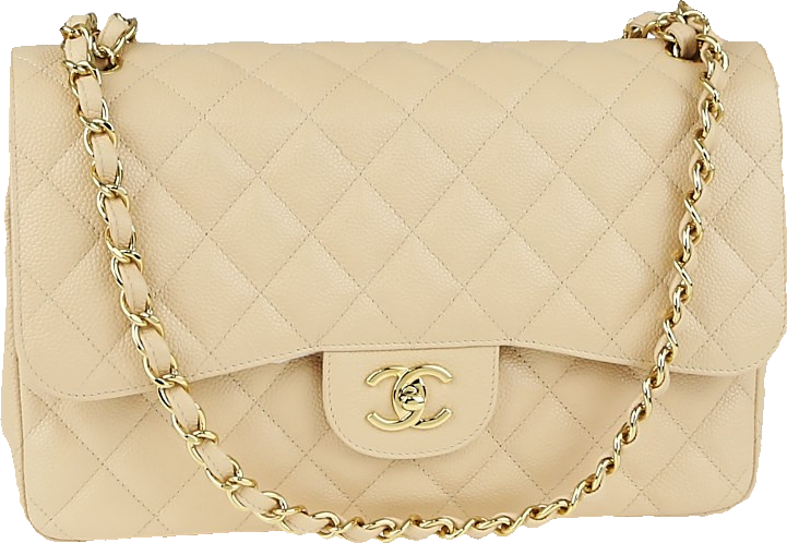 Chanel Classic Double Flap Quilted Jumbo Beige Clair