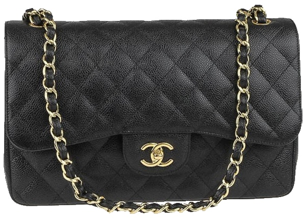 a189176b9206 Chanel Classic Double Flap Quilted Jumbo Black