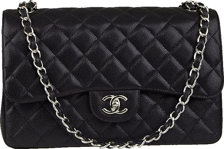 Chanel Classic Double Flap Quilted Jumbo Black