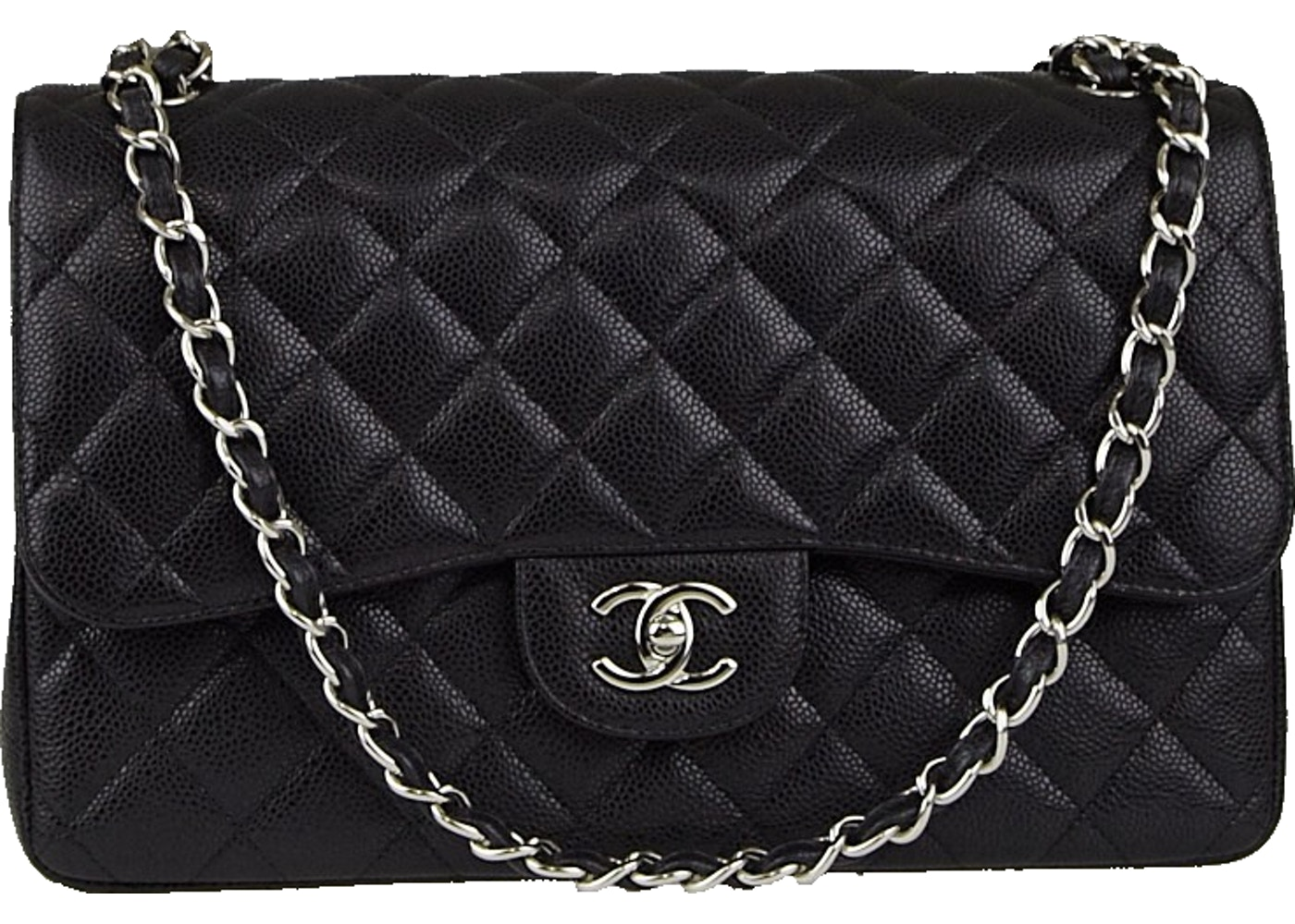 240eab9b4f9b Chanel Classic Double Flap Quilted Jumbo Black. Quilted Jumbo Black