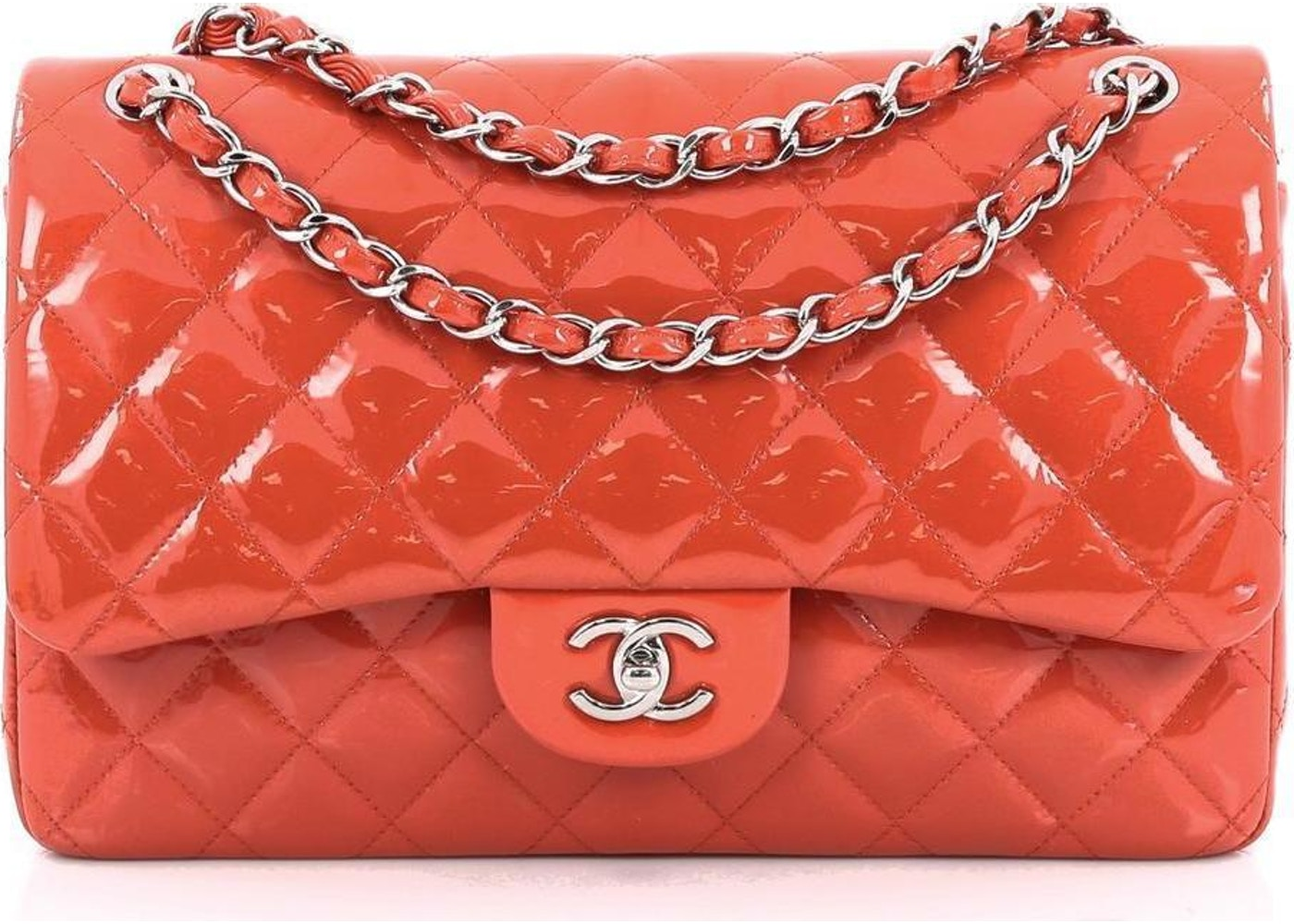 6d9a74d96390 Sell. or Ask. View All Bids. Chanel Classic Double Flap Quilted Jumbo Red  Orange