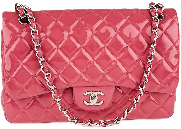 Chanel Classic Double Flap Quilted Jumbo Rose Pink