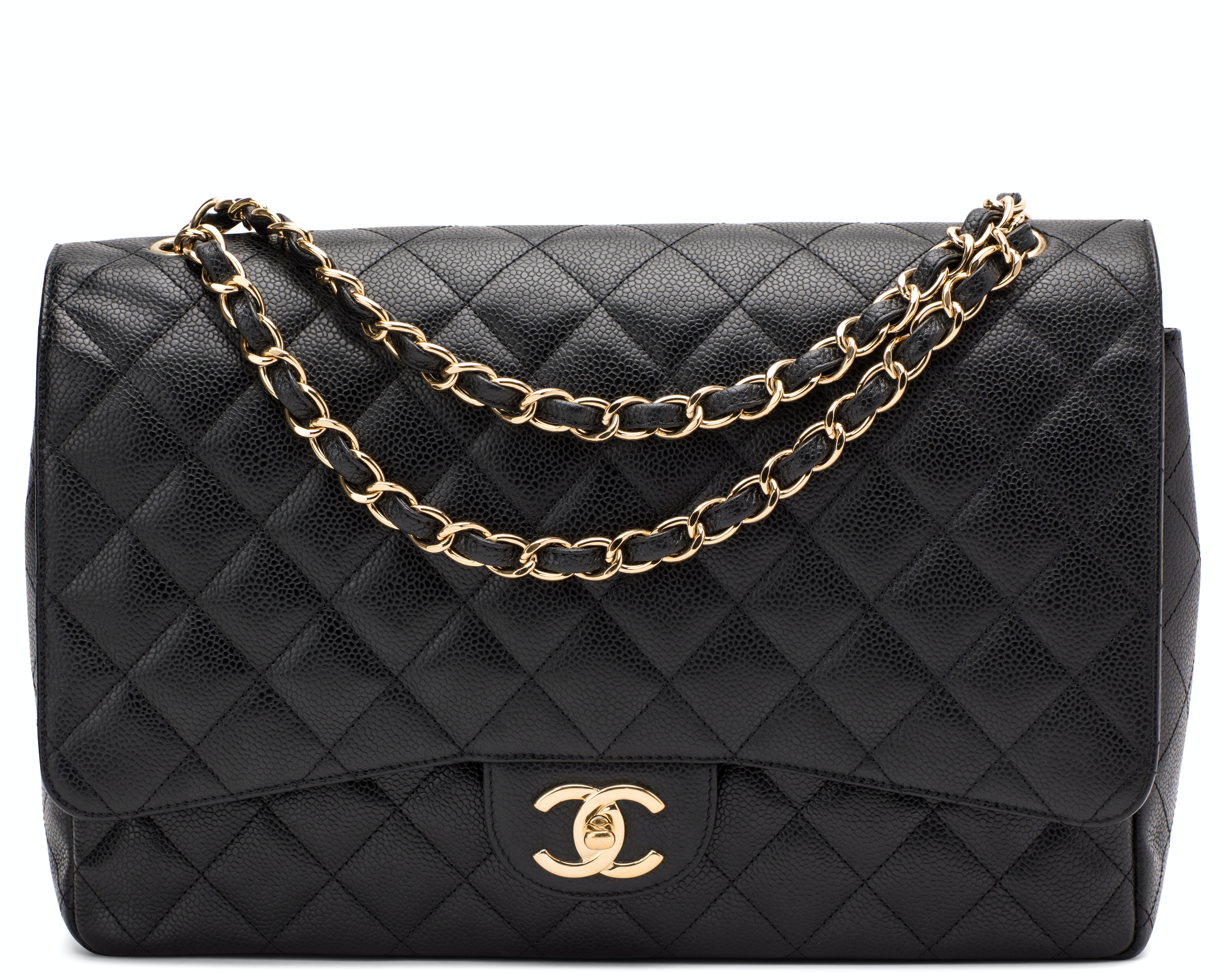 Chanel Classic Double Flap Quilted Maxi Black