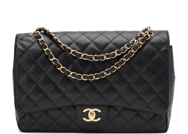 5fa52a02e1ab Chanel Classic Double Flap Quilted Maxi Black