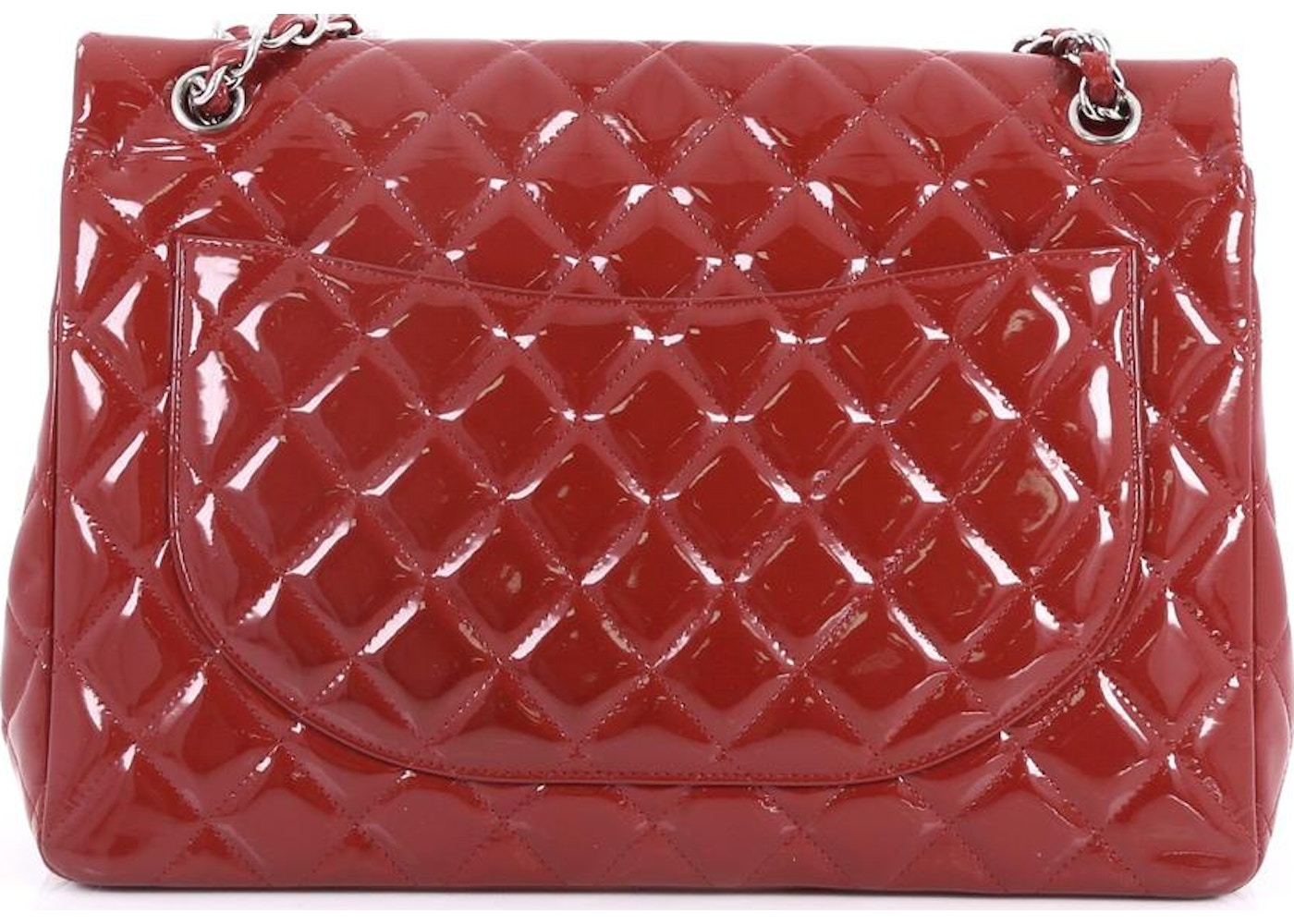 b8083c85bdac02 Chanel Classic Double Flap Quilted Maxi Red