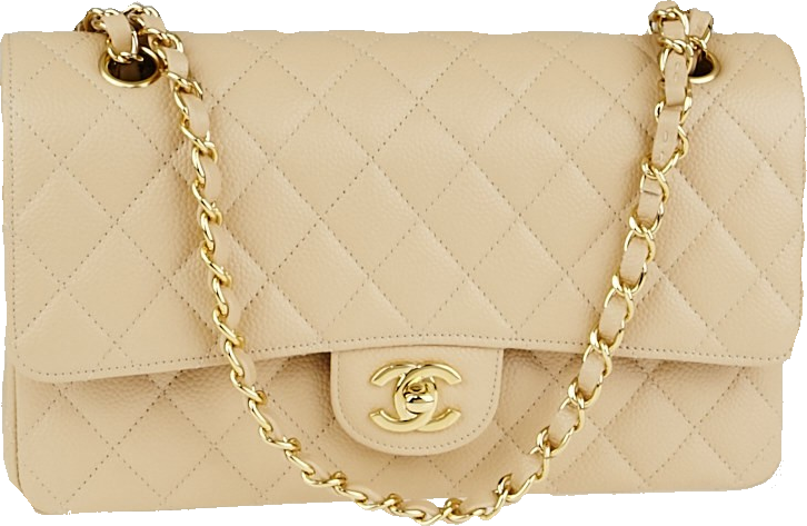 Chanel Classic Double Flap Quilted Medium Beige Clair