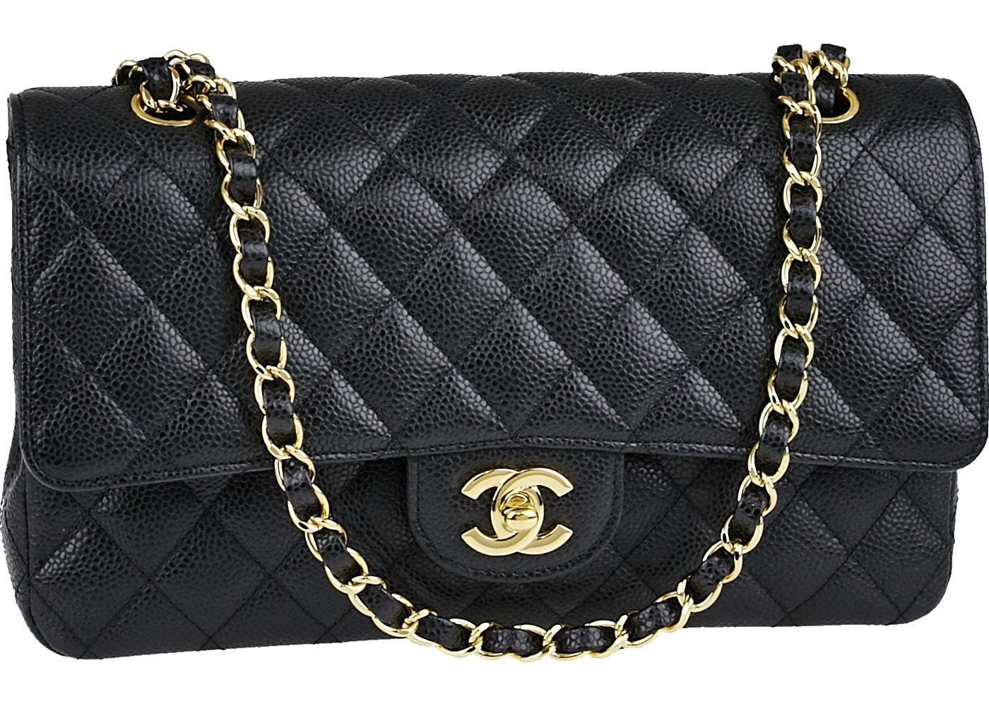 Chanel Classic Double Flap Quilted Medium Black 2d8e56cf36