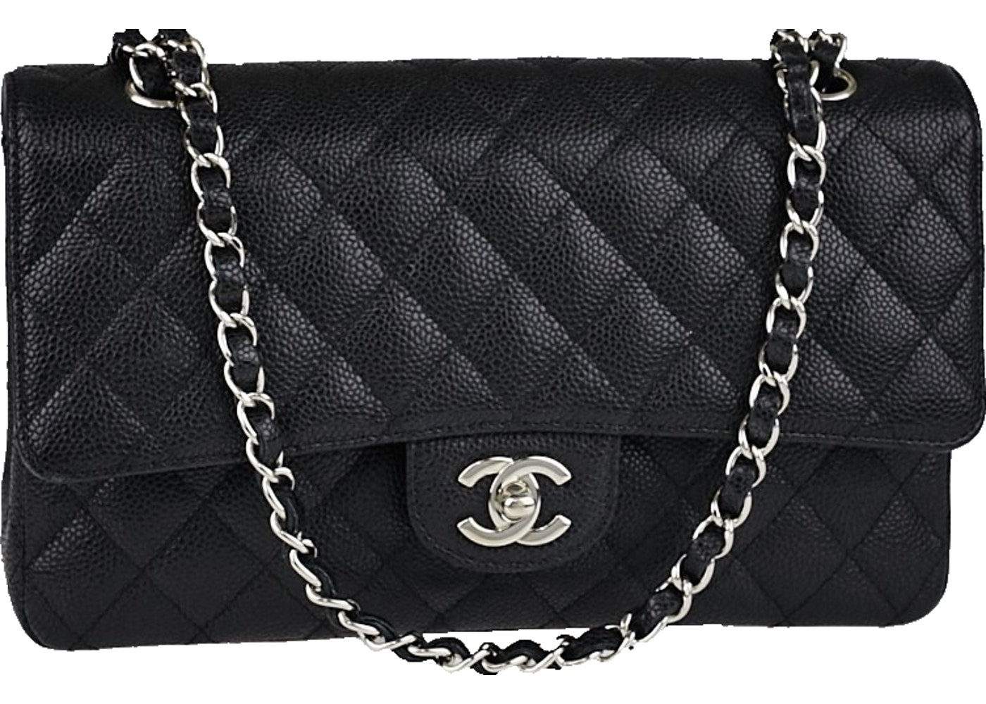 fe6df2ba4cb7 Chanel Classic Double Flap Quilted Medium Black. Quilted Medium Black
