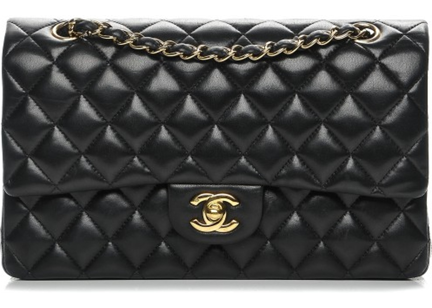 24a240a9653f Chanel Classic Double Flap Quilted Medium Black