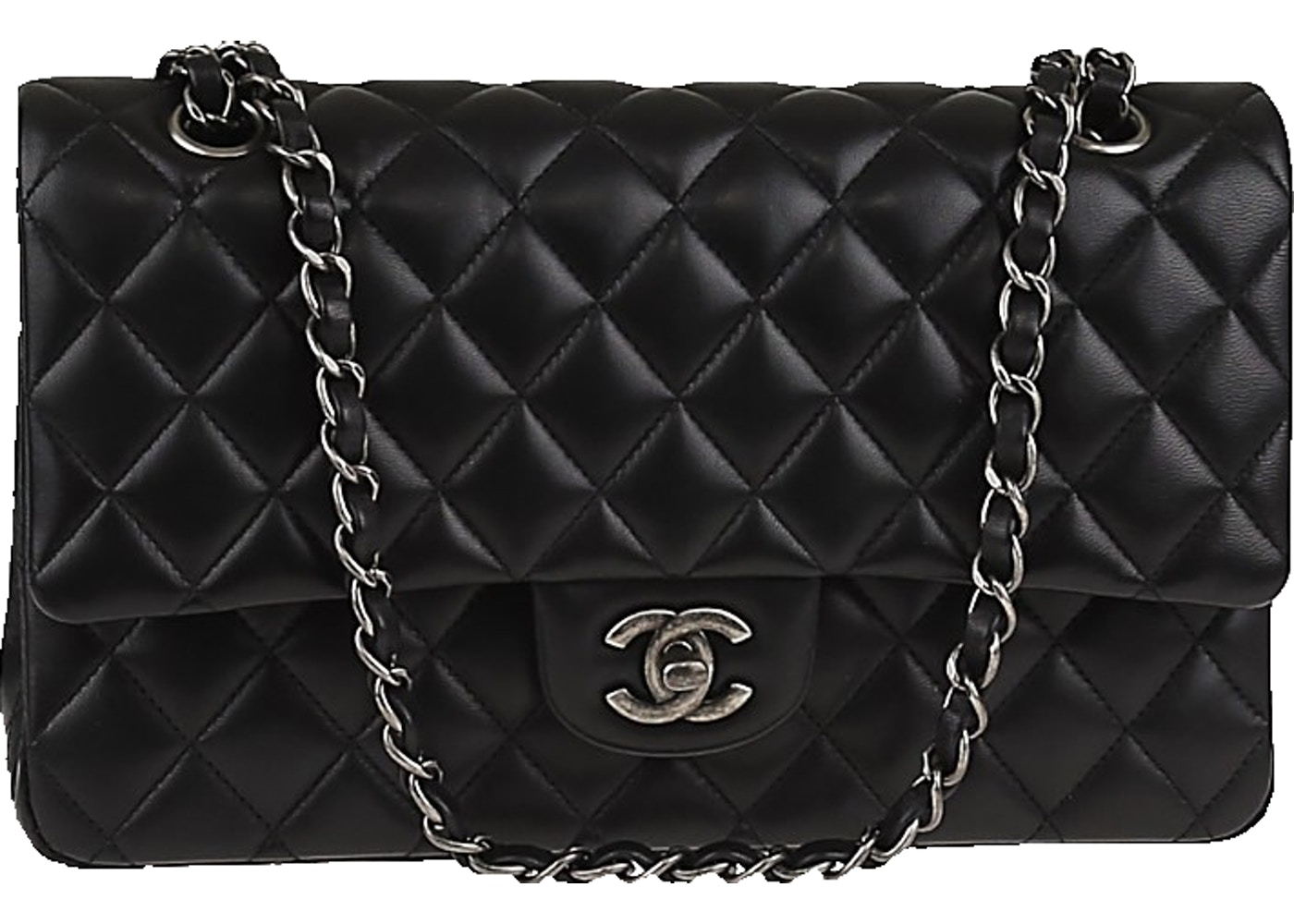 836ac8bff137d0 Chanel Classic Double Flap Quilted Medium Black