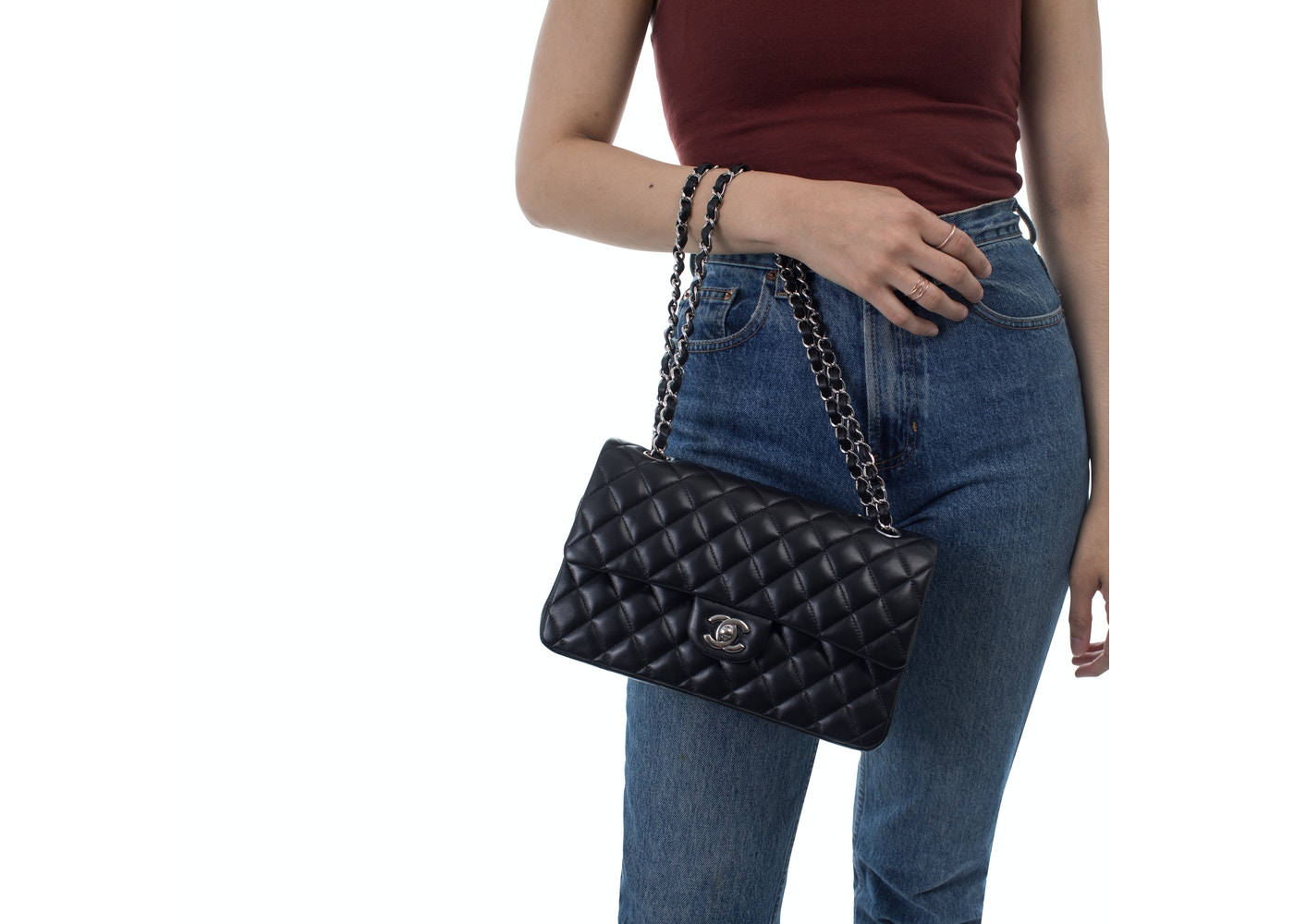 449cd4f37745 Chanel Classic Double Flap Quilted Medium Black
