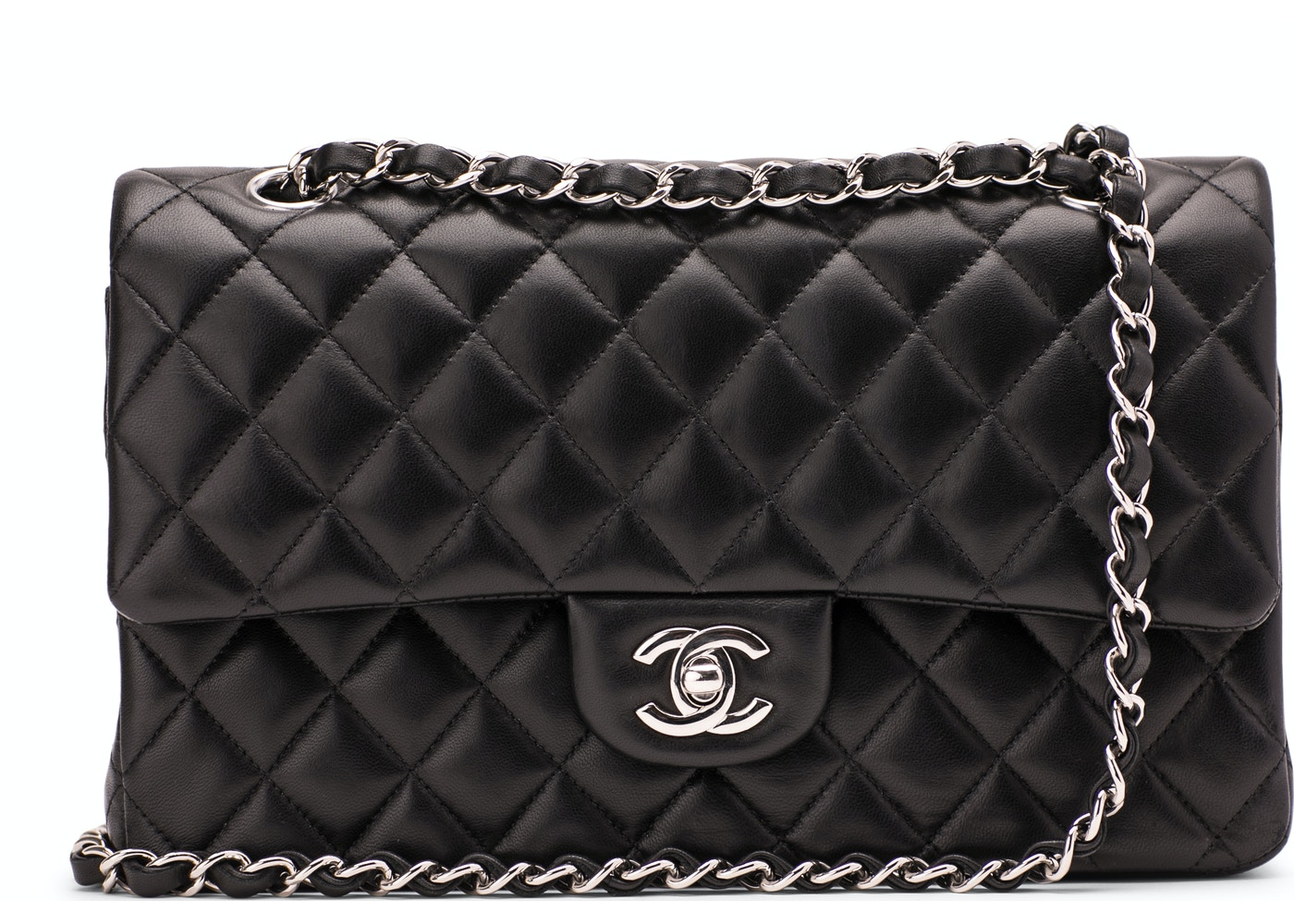 dd733749991b7 Chanel Classic Double Flap Quilted Medium Black