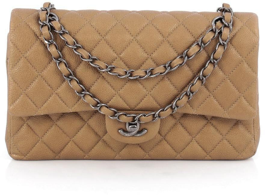 Chanel Classic Double Flap Quilted Medium Dark Gold