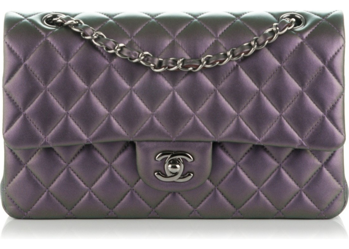 d18ddc5bcfe0 Sell. or Ask. View All Bids. Chanel Classic Double Flap Quilted Medium Dark  Purple
