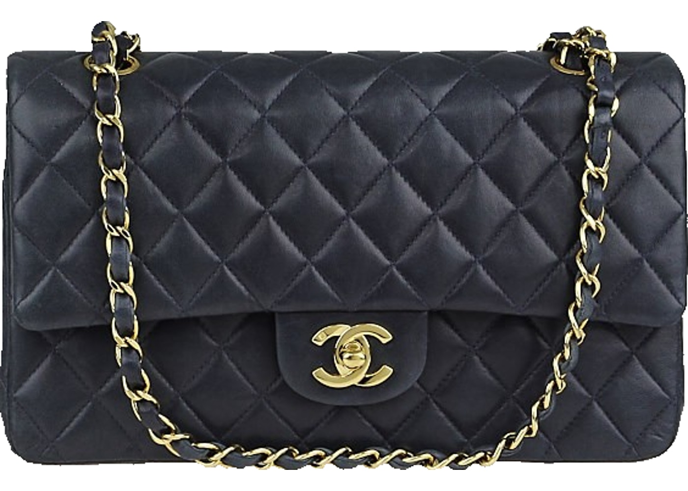 1a4a5ad8153 Sell. or Ask. View All Bids. Chanel Classic Double Flap Quilted medium Navy  Blue