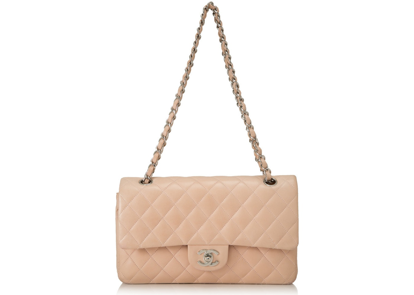 dbeb2908847082 Sell. or Ask. View All Bids. Chanel Classic Double Flap Quilted Medium  Beige Clair