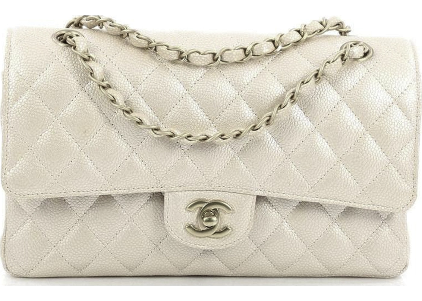 bab5a5588383e Sell. or Ask. View All Bids. Chanel Classic Double Flap Quilted Metallic  Medium Pink