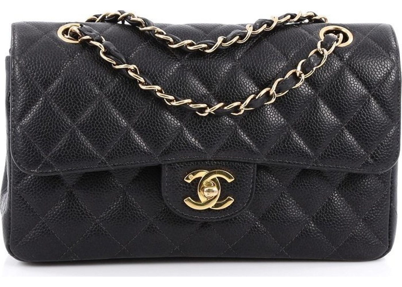 b535f7aee89f Chanel Classic Double Flap Quilted Small Black