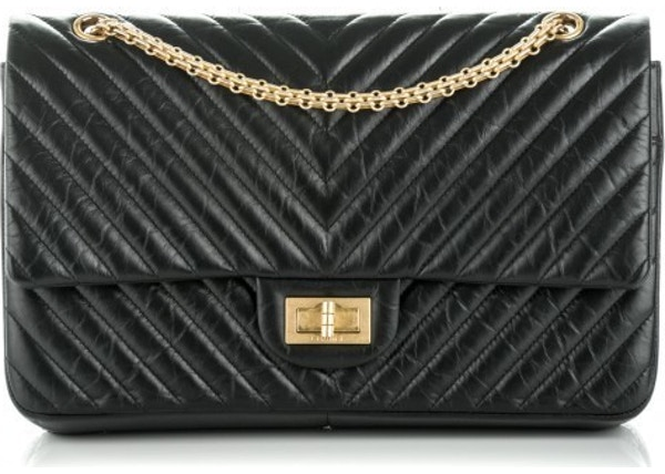 c541452f3c1e Chanel Reissue 2.55 Classic Double Flap Chevron Quilted Aged 227 Black