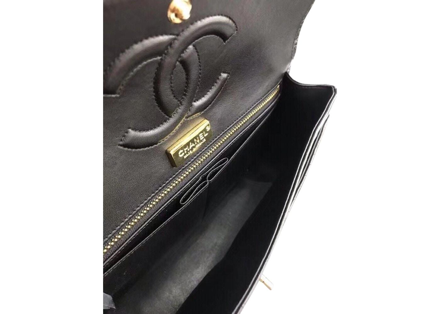 894a9f76a04a Chanel Classic Flap Matte Alligator Large Black