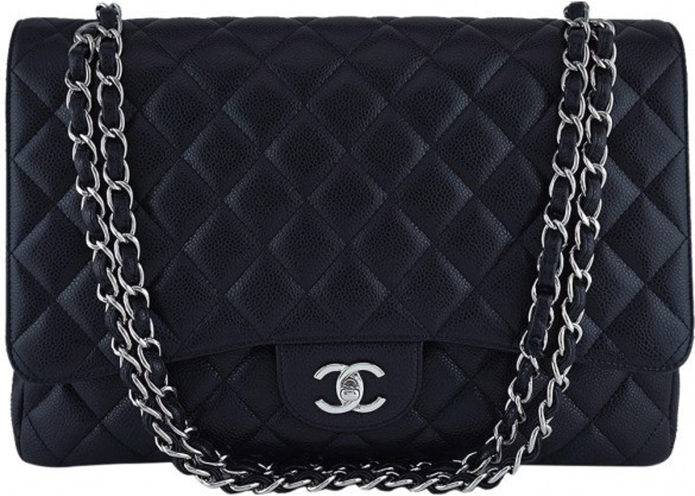 fe67fd8462ea Chanel 2.55 Classic Single Flap Quilted Jumbo Black