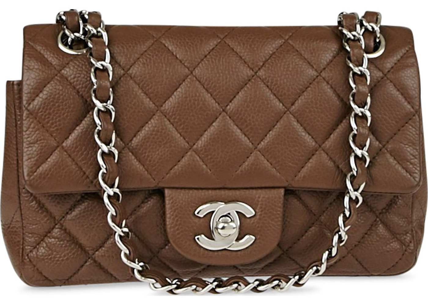 385d073dbf4c Chanel Classic Single Flap Quilted Diamond New Mini Brown. Quilted Diamond  New Mini Brown