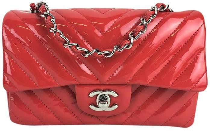 chanel bags classic red. chanel classic single flap quilted chevron extra mini red bags