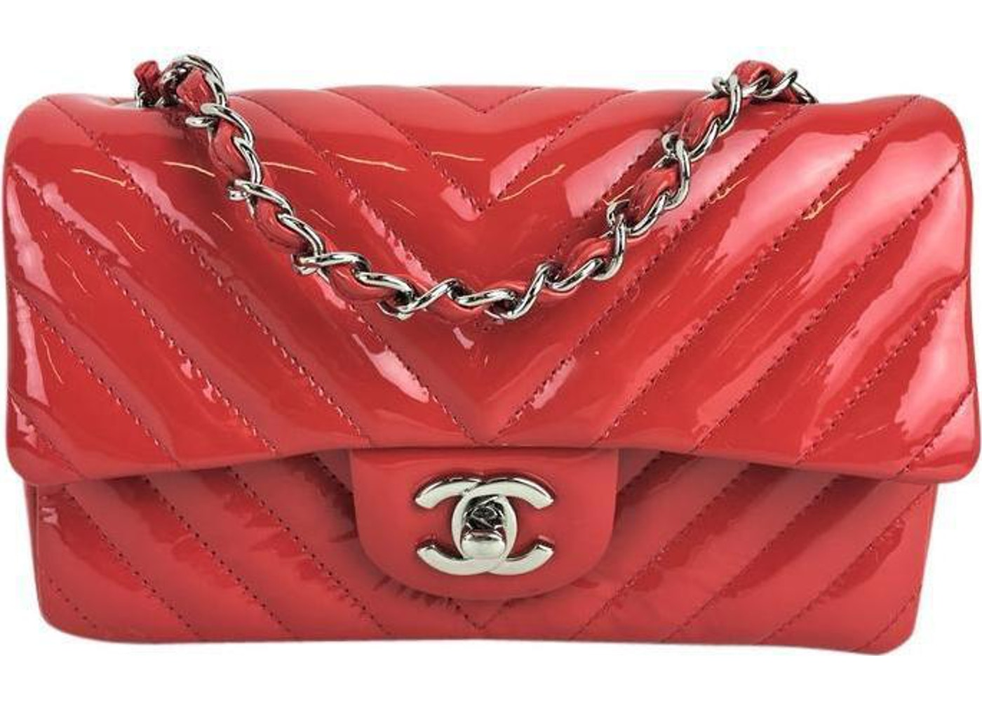 3ece403c21356a Sell. or Ask. View All Bids. Chanel Classic Single Flap Quilted Chevron  Extra Mini Red