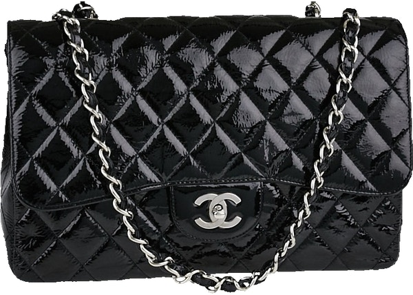 d90c0874a83d Chanel Classic Single Flap Quilted Crinkled Jumbo Black