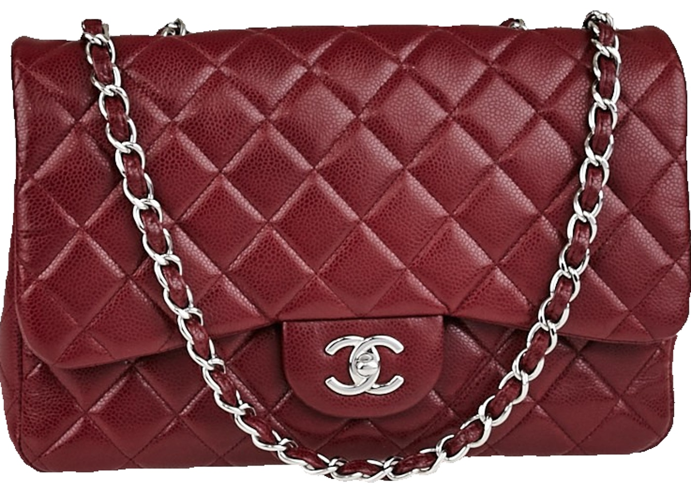 cb37b387186e Sell. or Ask. View All Bids. Chanel Classic Single Flap Quilted Jumbo  Bordeaux