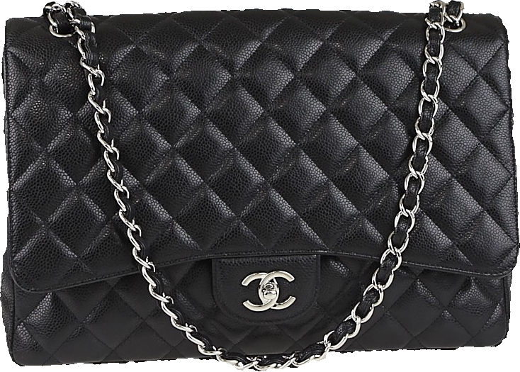 Chanel Classic Single Flap Quilted Maxi Black
