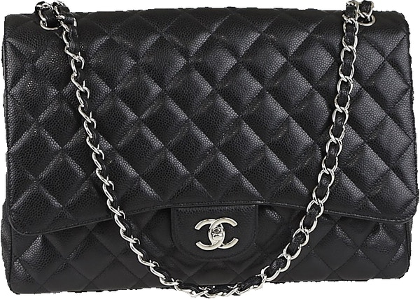 6b3c51db05f3 Chanel Classic Single Flap Quilted Maxi Black