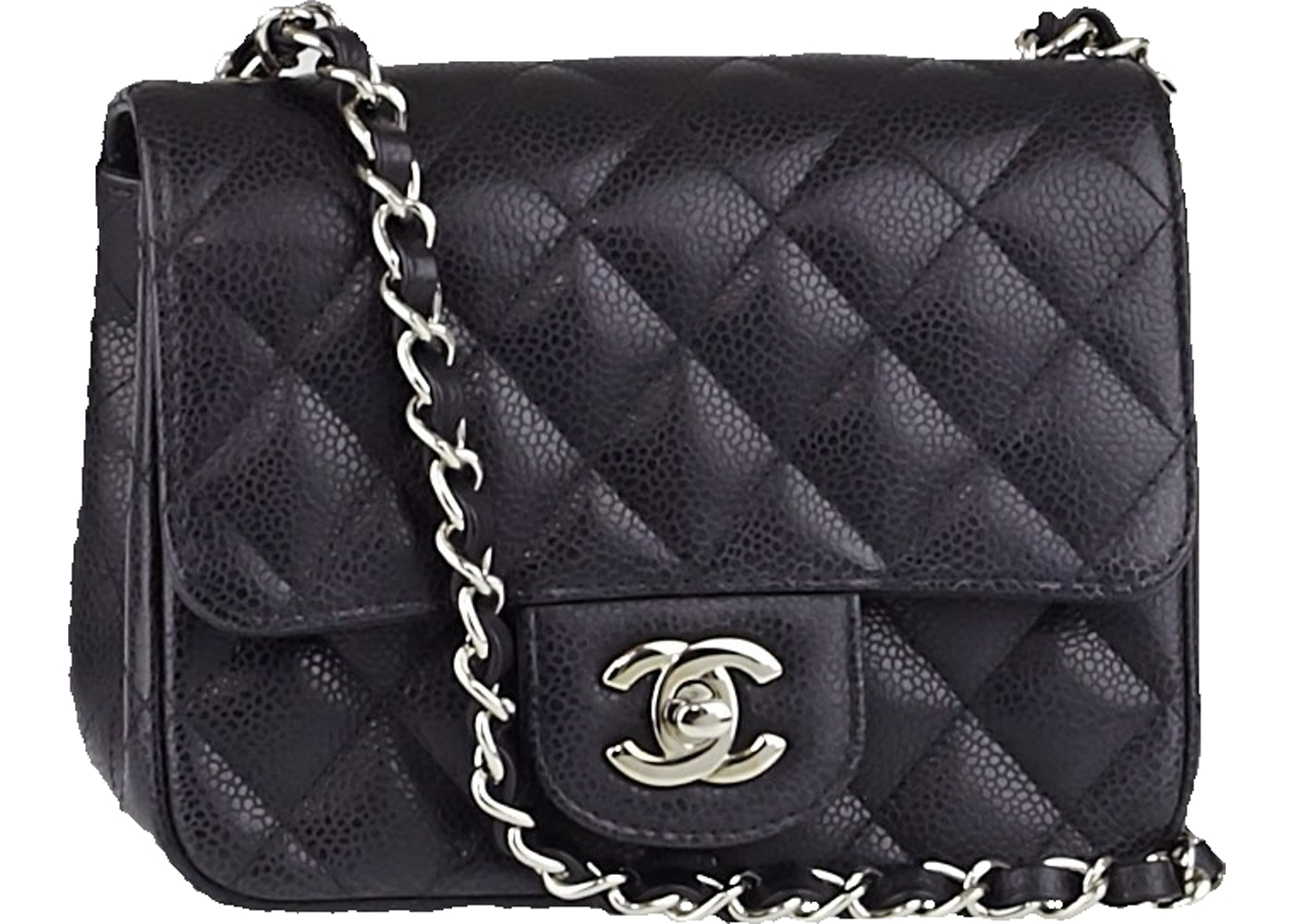 Sell. or Ask. View All Bids. Chanel Classic Single Flap Quilted Caviar Mini  Black 83fd0ce36c1b2