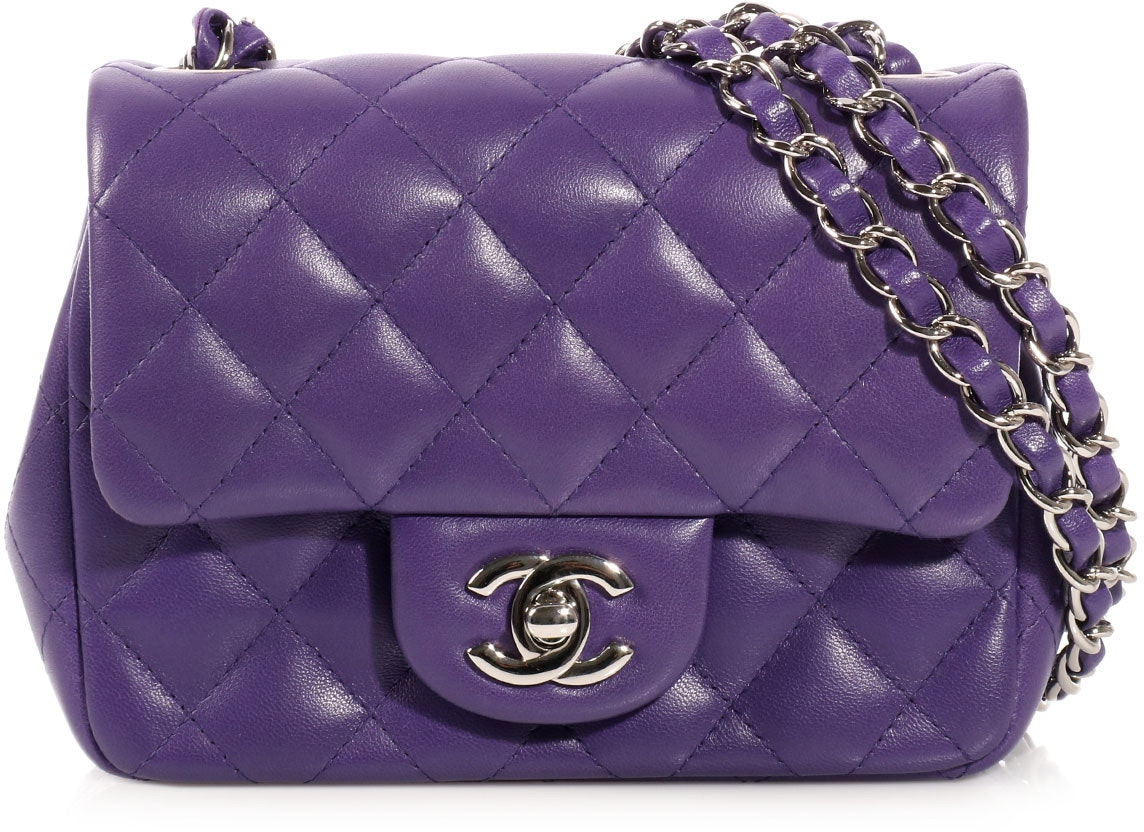 Chanel Classic Single Flap Quilted Mini Purple