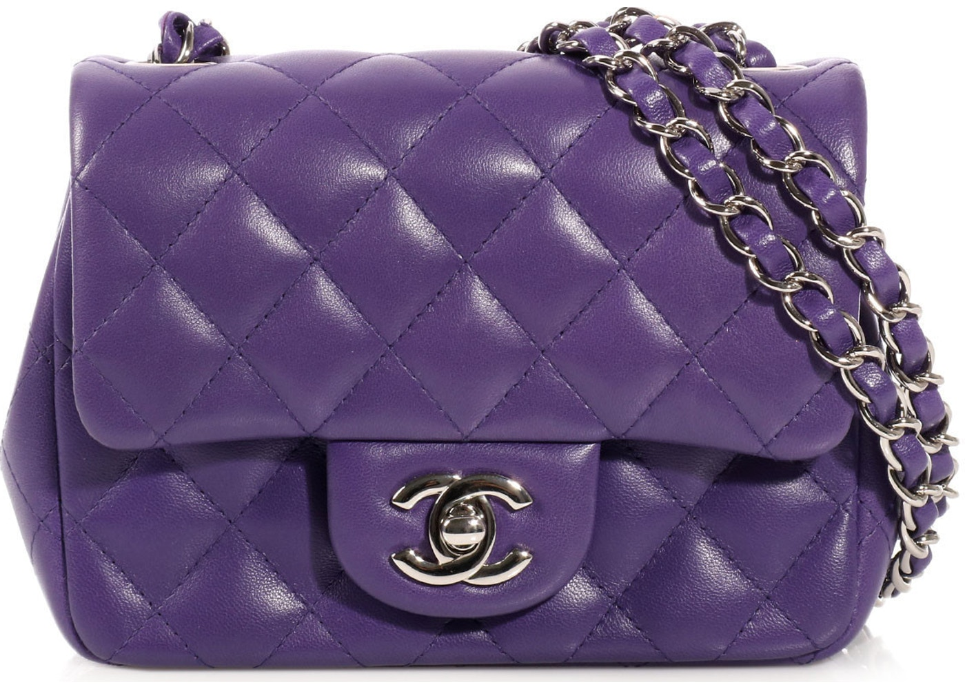 71ef5c8ad93c25 Sell. or Ask. View All Bids. Chanel Classic Single Flap Quilted Mini Purple