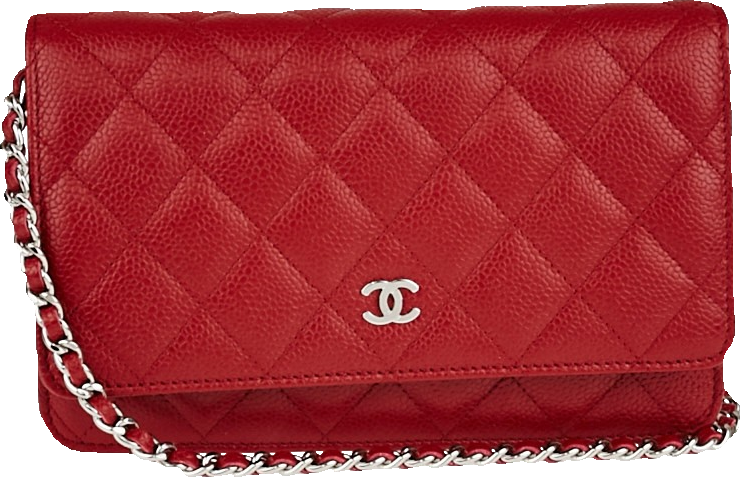 Chanel Classic Wallet on Chain Quilted Red