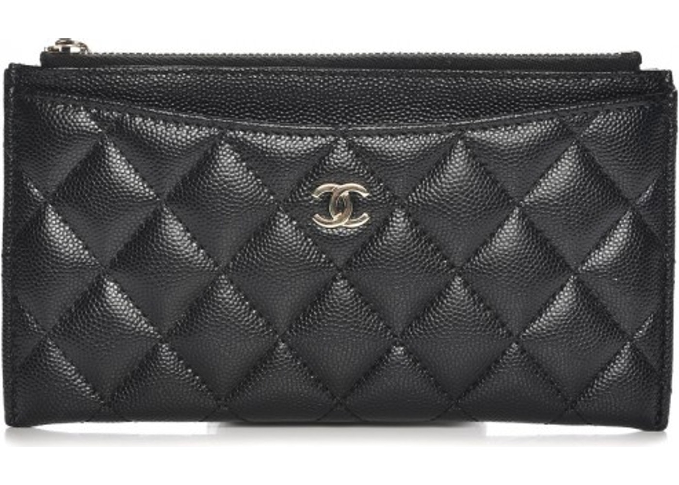 305213fcfa20 Chanel Zip Classic Pouch Diamond Quilted Black