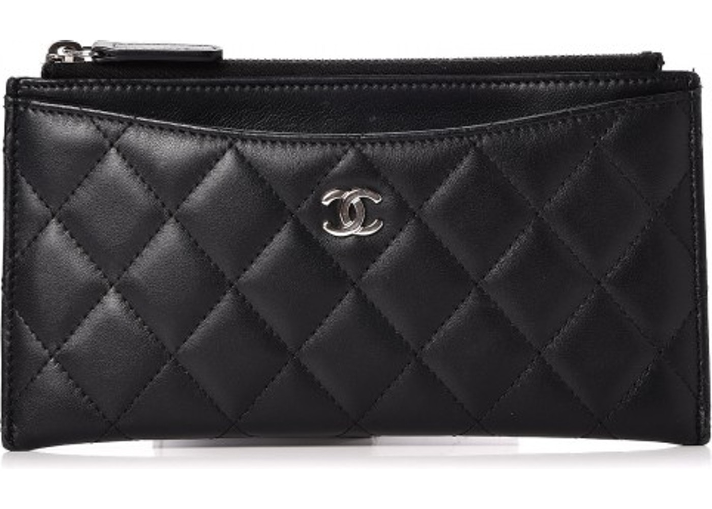 05d89c599c Chanel Classic Zip Pouch Quilted Diamond Black