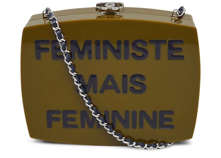 Chanel Clutch Clutch Feministe Mais Feminine Box Green