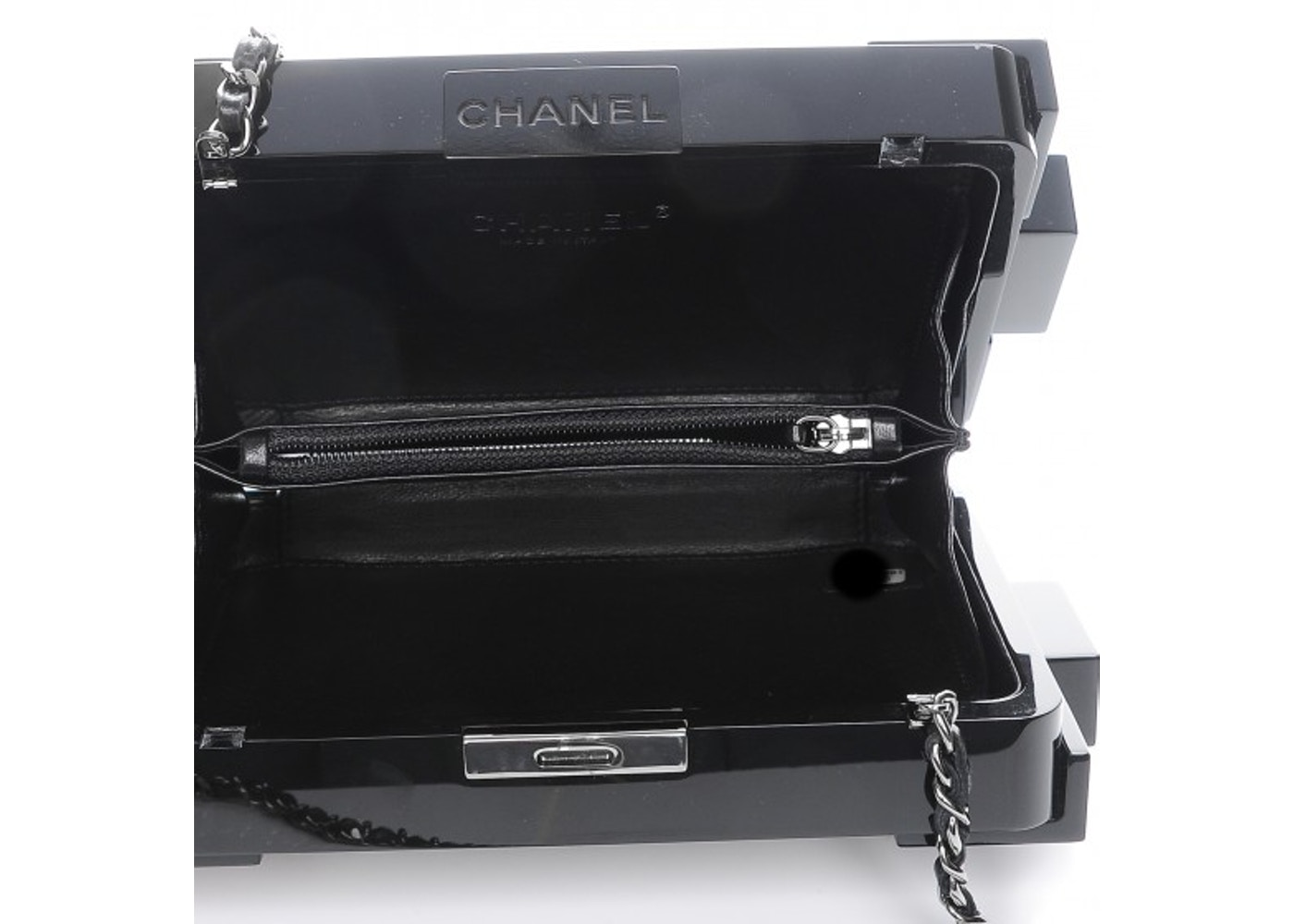 58ccd8506e86 Chanel Boy Brick Lego Clutch Plexiglass Crystal Black