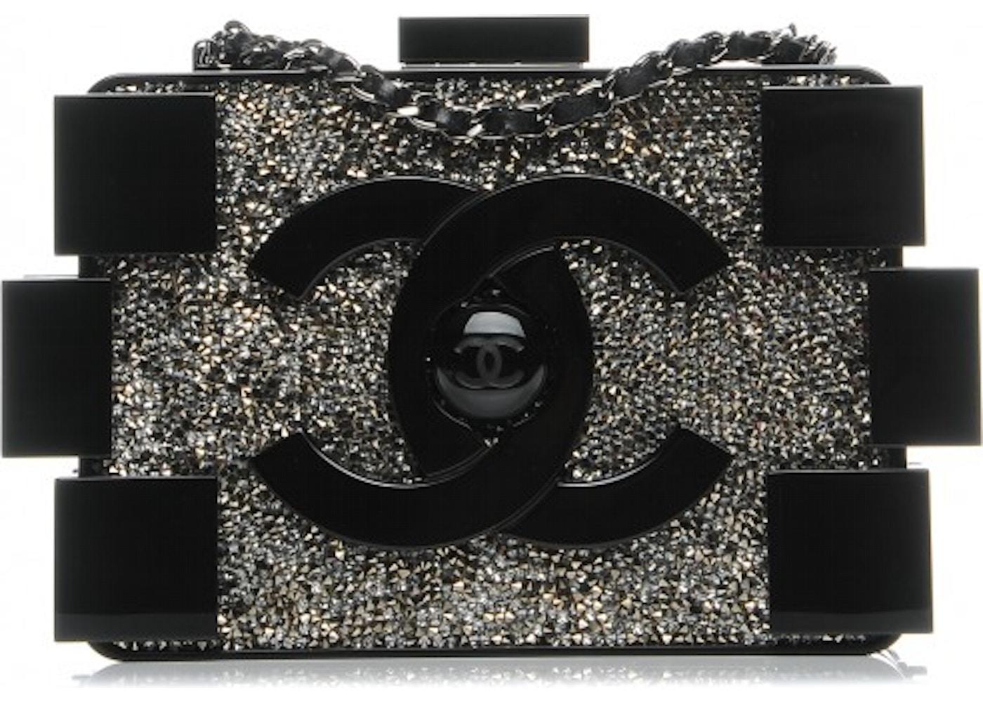 19cea8940de7 Chanel Boy Brick Lego Clutch Plexiglass Crystal Black. Plexiglass Crystal  Black